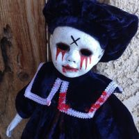 Tears of Blood Crackled Choir Boy Creepy Horror Doll by Bastet2329