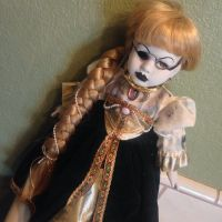 Rapunzel Fairy Tale Cracked Face Creepy Horror Doll by Bastet2329