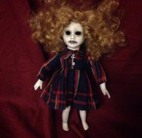 Smaller Wild Hair Doll w Key Creepy Horror Doll by Christie Creepydolls