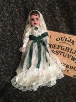 Green Eye Gypsy Fortune Teller Crackle Paint Creepy Horror Doll by Bastet2329 Christie Creepydolls