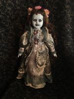 Blue & Brown Eye Frankenstein Girl w Flowers Creepy Horror Doll by Bastet2329 Christie Creepydolls