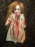Tears of Blood Floating Possessed Girl w Long Hair Creepy Horror Doll by Bastet2329 Christie Creepydolls