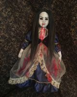 Supernatural Black Eyed Vampire w Black Hair Creepy Horror Doll by Bastet2329 Christie Creepydolls