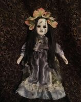Hollow Eyes Frankenstein Girl w Flowers Creepy Horror Doll by Bastet2329 Christie Creepydolls