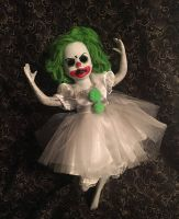 Green Hair Ballerina Clown Circus Sideshow Creepy Horror Doll by Bastet2329 Christie Creepydolls