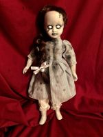 OOAK Dorothy of Oz Frankenstein Zombie Girl Gothic Creepy Horror Doll Art by Christie Creepydolls