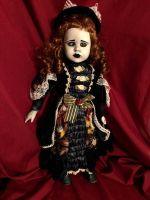 OOAK Crazy Eye Girl Gothic Creepy Horror Doll Art by Christie Creepydolls