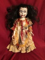 OOAK Undead Zombie Girl Gothic Creepy Horror Doll Art by Christie Creepydolls