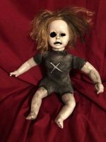 OOAK Ghost Baby Sitting Creepy Horror Doll Art by Christie Creepydolls