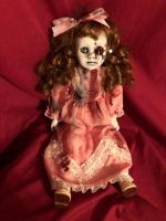OOAK Sitting Nails in Eye Voodoo Creepy Horror Doll Art by Christie Creepydolls
