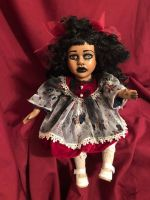 OOAK Small Moving Musical Sitting Creepy Horror Doll Art by Christie Creepydolls