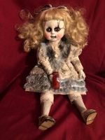 OOAK Alice in Wonderland Sitting Creepy Horror Doll Art by Christie Creepydolls