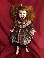 OOAK Cute Vampire Girl Creepy Horror Doll Art by Christie Creepydolls