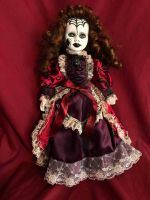 OOAK Spiderweb Girl Creepy Horror Doll Art by Christie Creepydolls