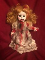 OOAK Small Bloody Vampire Creepy Horror Doll Art by Christie Creepydolls