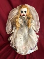 OOAK Smaller Joker Bride Gothic Creepy Horror Doll Art by Christie Creepydolls