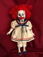 OOAK Goth Sailor Clown Creepy Horror Doll Art by Christie Creepydolls