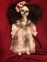 OOAK DOD Flower Girl Creepy Horror Doll Art by Christie Creepydolls