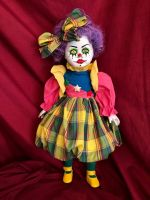 OOAK Punky Brewster Clown Creepy Horror Doll Art by Christie Creepydolls