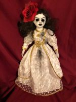 OOAK Mascara Tears Creepy Horror Doll Art by Christie Creepydolls