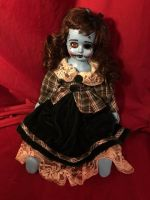 OOAK Sitting Rockabilly Frankenstein Creepy Horror Doll Art by Christie Creepydolls