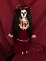 OOAK DOD Maroon Lady Creepy Horror Doll Art by Christie Creepydolls