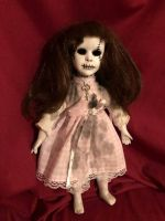 OOAK Small Key Girl Creepy Horror Doll Art by Christie Creepydolls