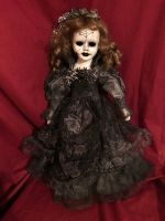 OOAK Gothic Spiderweb Mourning Bride Creepy Horror Doll Art by Christie Creepydolls