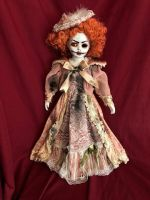 OOAK Peaches Crackle Paint Creepy Horror Doll Art by Christie Creepydolls