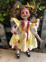 OOAK Ms. Sally Sunshine Child Creepy Horror Doll Art by Christie Creepydolls