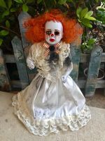 OOAK Mascara Tears Clown Creepy Horror Doll Art by Christie Creepydolls
