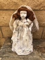 OOAK Smaller No Eyes Bride Gothic Creepy Horror Doll Art by Christie Creepydolls
