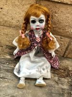 OOAK Annabelle w the Pox Creepy Horror Doll Art by Christie Creepydolls