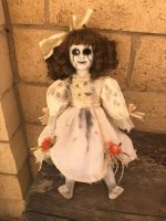 OOAK Sitting Faux Crack Creepy Horror Doll Art by Christie Creepydolls