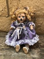 OOAK Small Nutcracker Moving Musical Sitting Creepy Horror Doll Art by Christie Creepydolls