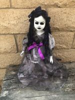 OOAK Hollow Eye Dread Girl Creepy Horror Doll Art by Christie Creepydolls