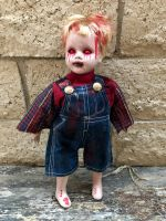 OOAK Medium Demon Boy Creepy Horror Doll Art by Christie Creepydolls