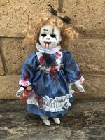 OOAK Alice in Wonderland Stitches Creepy Horror Doll Art by Christie Creepydolls