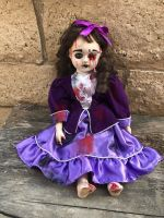 OOAK Sitting Musical Nails in Eye Voodoo Creepy Horror Doll Art by Christie Creepydolls