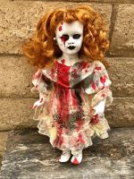 OOAK Nails in Eye Red Head Voodoo Creepy Horror Doll Art by Christie Creepydolls