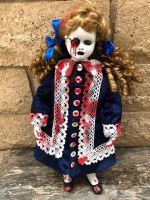 OOAK Nails in Eye Voodoo Creepy Horror Doll Art by Christie Creepydolls