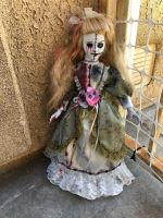 OOAK Two Face Stitches Creepy Horror Doll Art by Christie Creepydolls