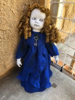 OOAK Cute Key Girl Creepy Horror Doll Art by Christie Creepydolls