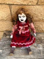 OOAK Sitting Screaming Creepy Horror Doll Art by Christie Creepydolls