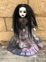 OOAK Sitting Pretty One Eye Creepy Horror Doll Art by Christie Creepydolls