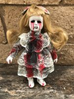 OOAK Small Tears of Blood Girl Creepy Horror Doll Art by Christie Creepydolls