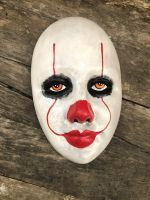 OOAK Pennywise IT Clown Creepy Horror Wall Mask Art by Christie Creepydolls