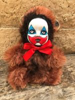 OOAK John Wayne Gacy Clown Teddy Bear Creepy Horror Doll Art Christie Creepydolls