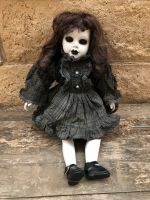 OOAK Sitting Black Eye Mourning Creepy Horror Doll Art by Christie Creepydolls