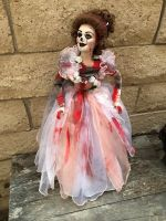 OOAK Large Bloody Skeleton Lady Creepy Horror Doll Art by Christie Creepydolls